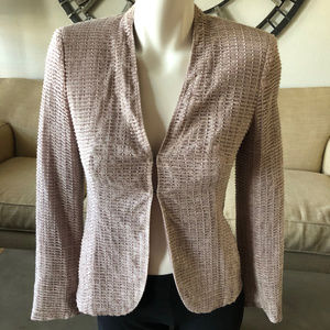 Akris Silk-Blend Blazer Jacket, size 2